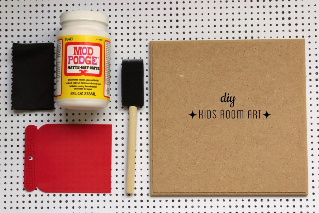 Mod Podge tutorial - Kids room decoration - DIY