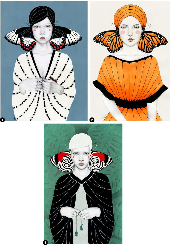 Sofia Bonati Butterfly Women Portraits