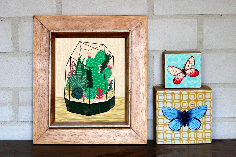 Succulents art prints