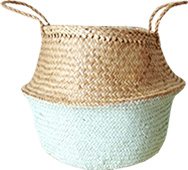 Dipped Mint Green Sea Grass Belly Basket