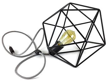 Black metal cage lampshade