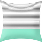 Mint strips throw pillow
