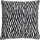 Black and white printed throw pillow