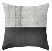 Black and concrete grey throw pillow
