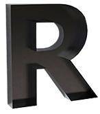 Metal decorating letter shelf