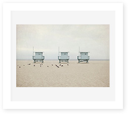 Lifeguard towers art print