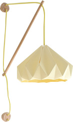 Yellow origami lampshade