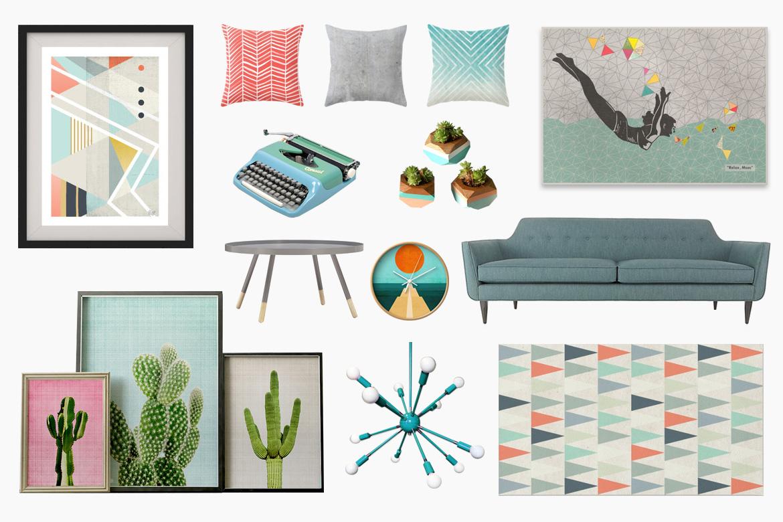 Retro Inspired Living Room