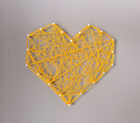 DIY Heart Wall Decor by handmadecharlotte