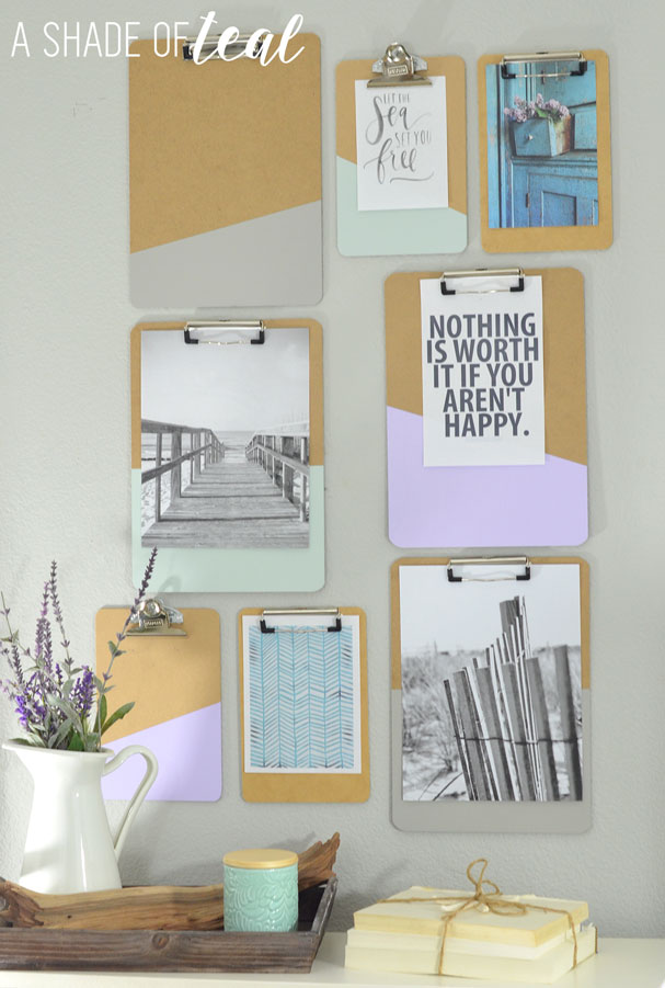 Clipboard-Gallery-Wall by a shade of teal