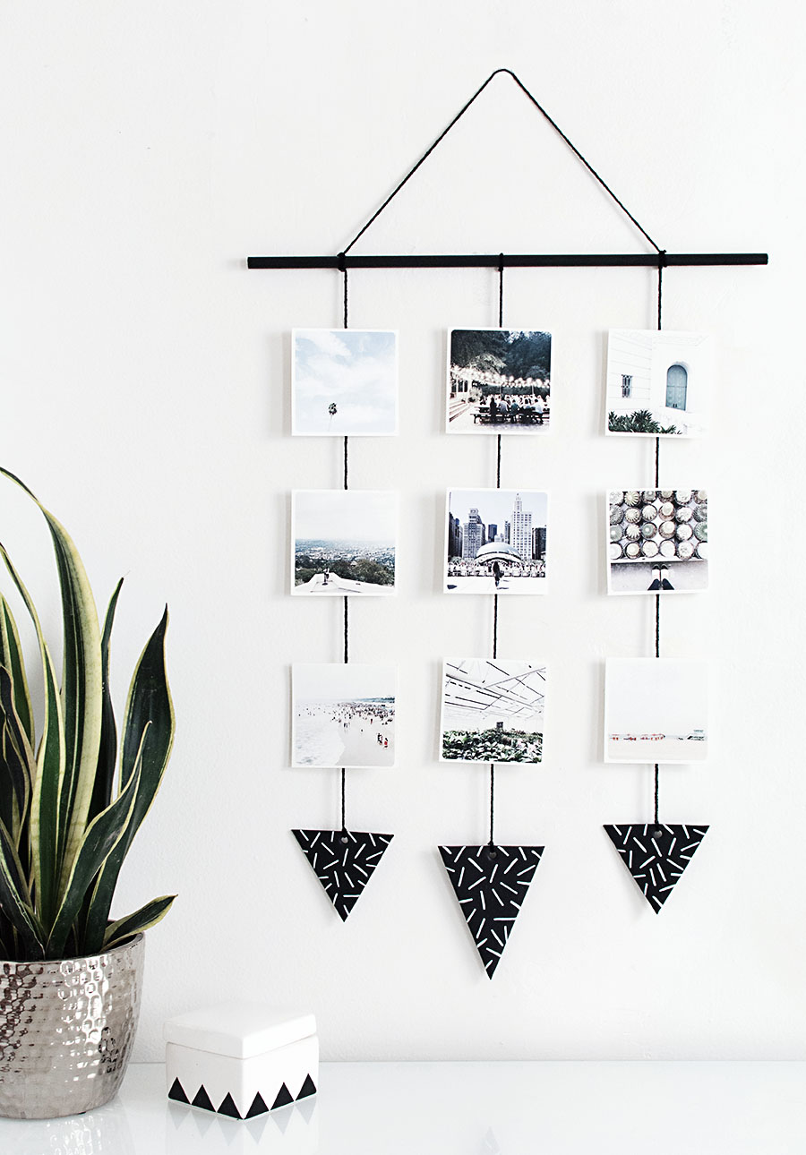 DIY Photo wall hanging by homeyohmy