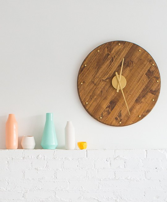 DIY-mid-century-wall-clock by sugarandcloth