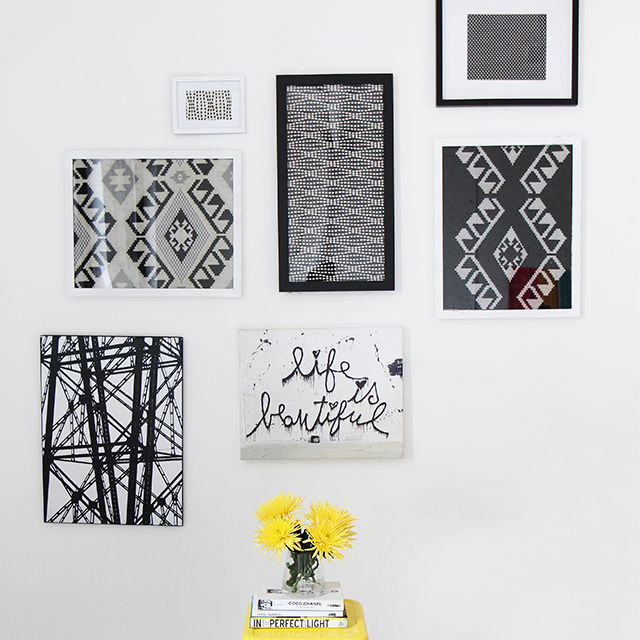 DIY fabric frames by thefabricofourlives