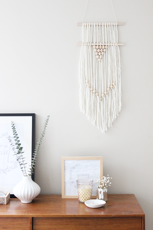 DIY Boho-Style Wall Hanging by ohthesweetthings