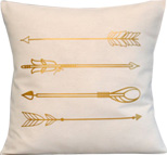 Gold Arrows Throw Pillow