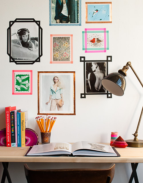 DIY WASHI TAPE PICTURE FRAMES