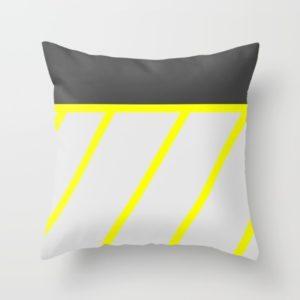artistic-black-neon-yellow-modern-stripes-pillows