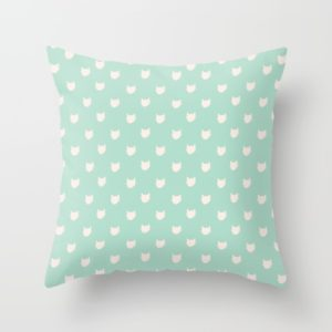 cute-dainty-mint-cats-pattern-pillows