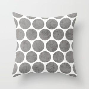 gray-polka-dots-pillows