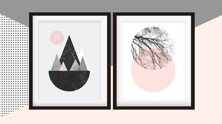 Scandinavian style art prints giveaway - BelivinDesign