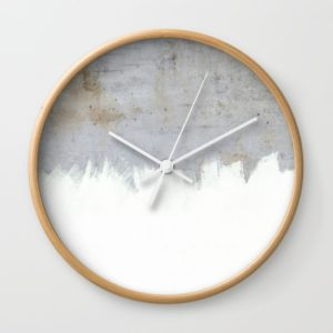 painting-on-raw-concrete-wall-clocks