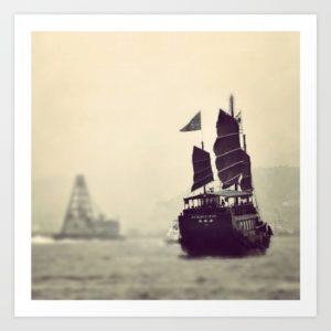 sampan-boat-crossing-over-hong-kong-prints
