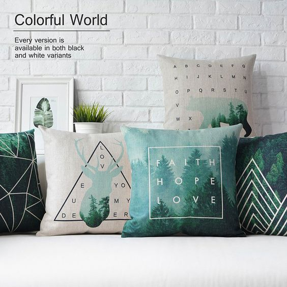 Nordic geometric Pillow cushion