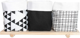 Black and white Mini Storage Pouch