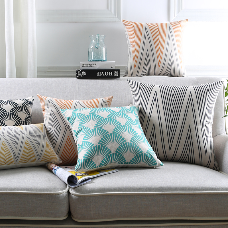 Nordic geometric throw pillow cover