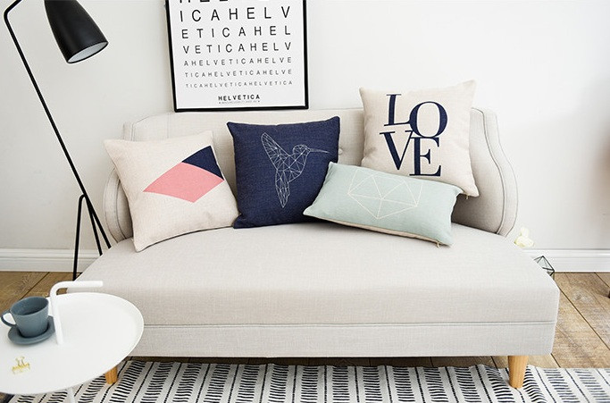 Scandinavian style throw pillows