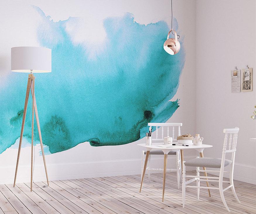 Watercolor Wall Mural