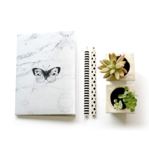 Marble Style Notebook Cover