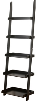 Black Leaning Bookcase