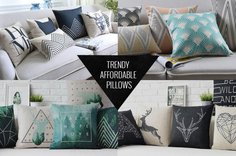 Throw pillows under 15 dollars