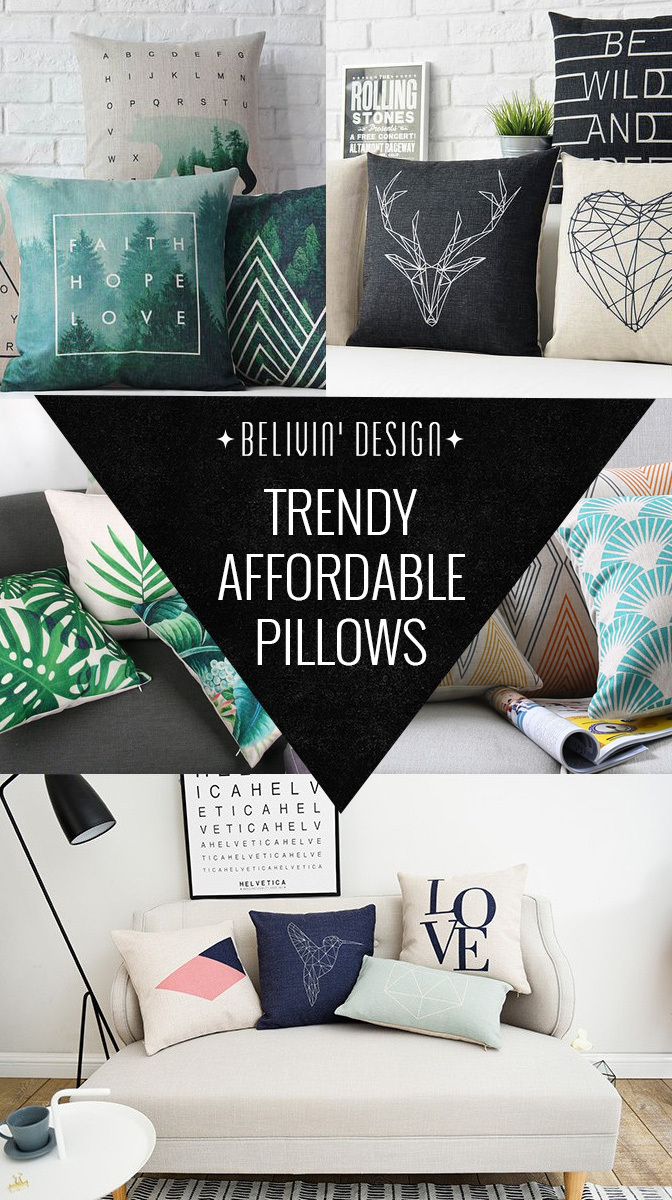 Trendy Throw pillows under $15
