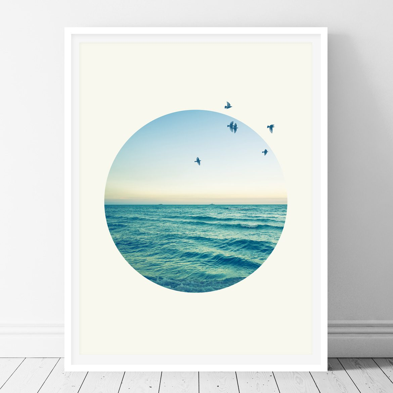 Sea in a circle - Printable wall art