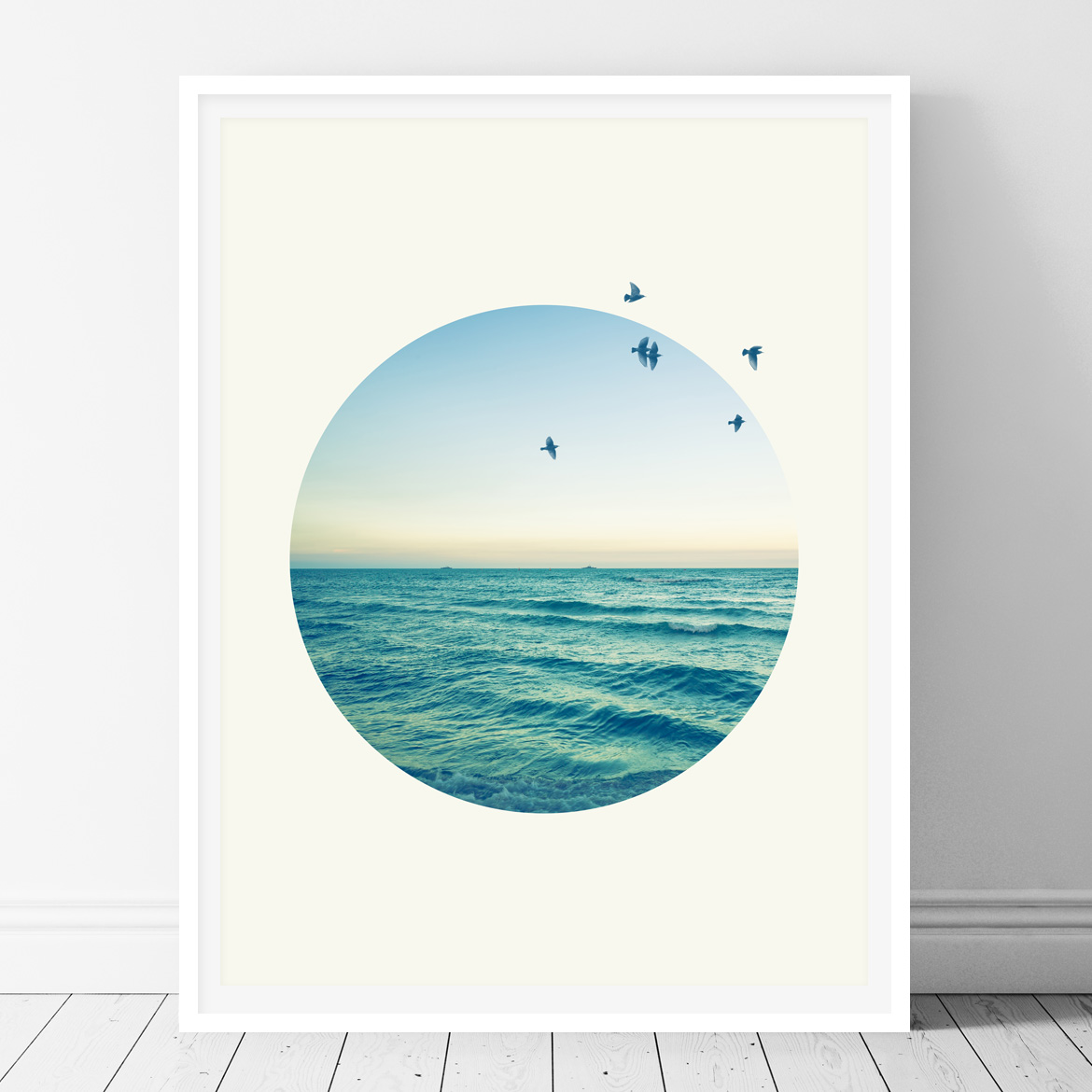 Sea in a circle - Printable wall art