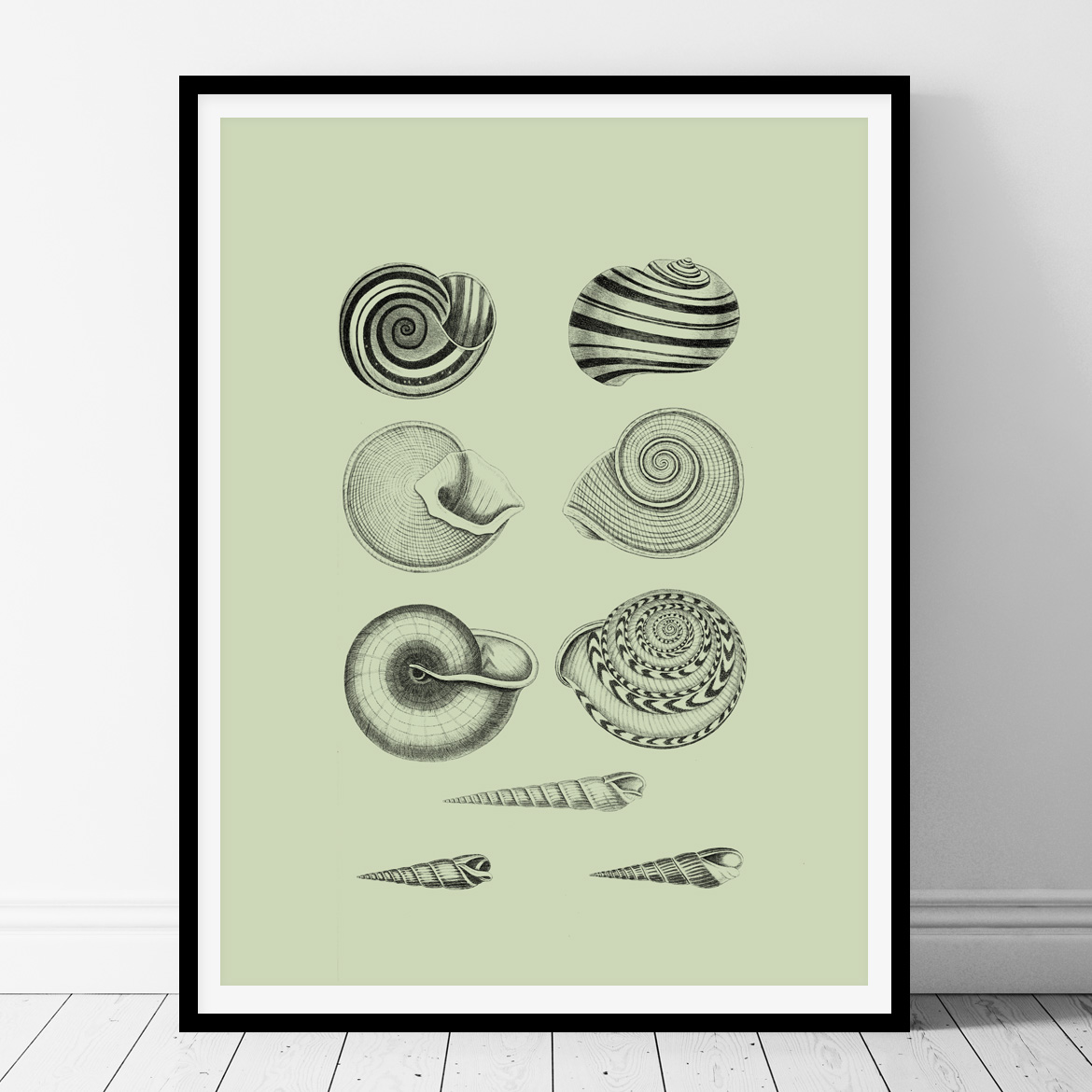 Vintage underwater printable wall art