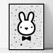 Bunny - black and white printable