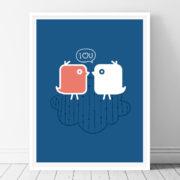 I Love U Printable wall art
