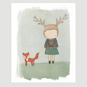 whimsical-art-deer