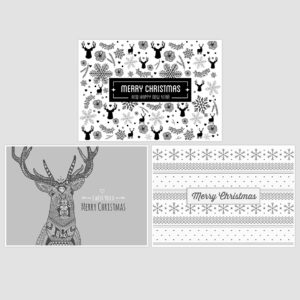 3 Christmas cards- free printables