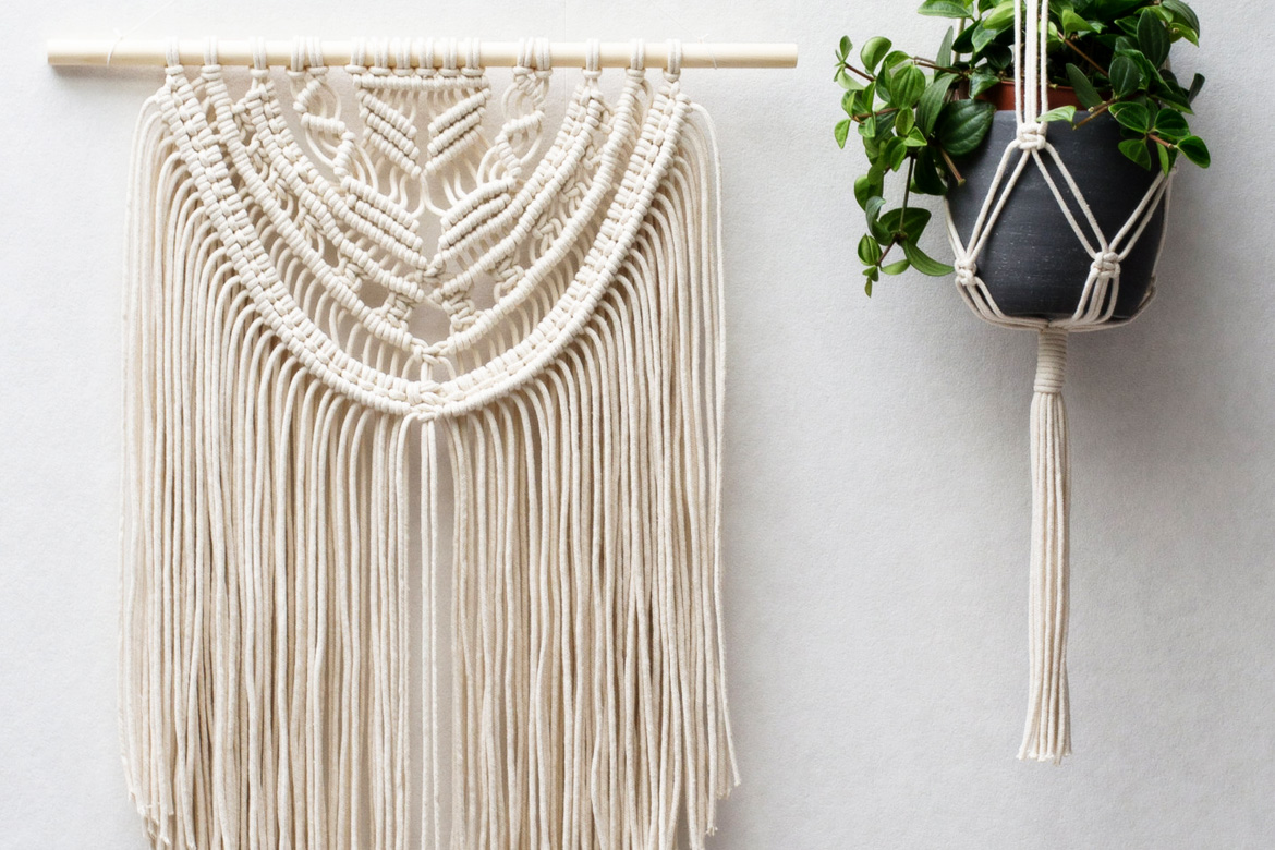 Macrame wall hangings plant hangers buy or diy for Wall hanging images