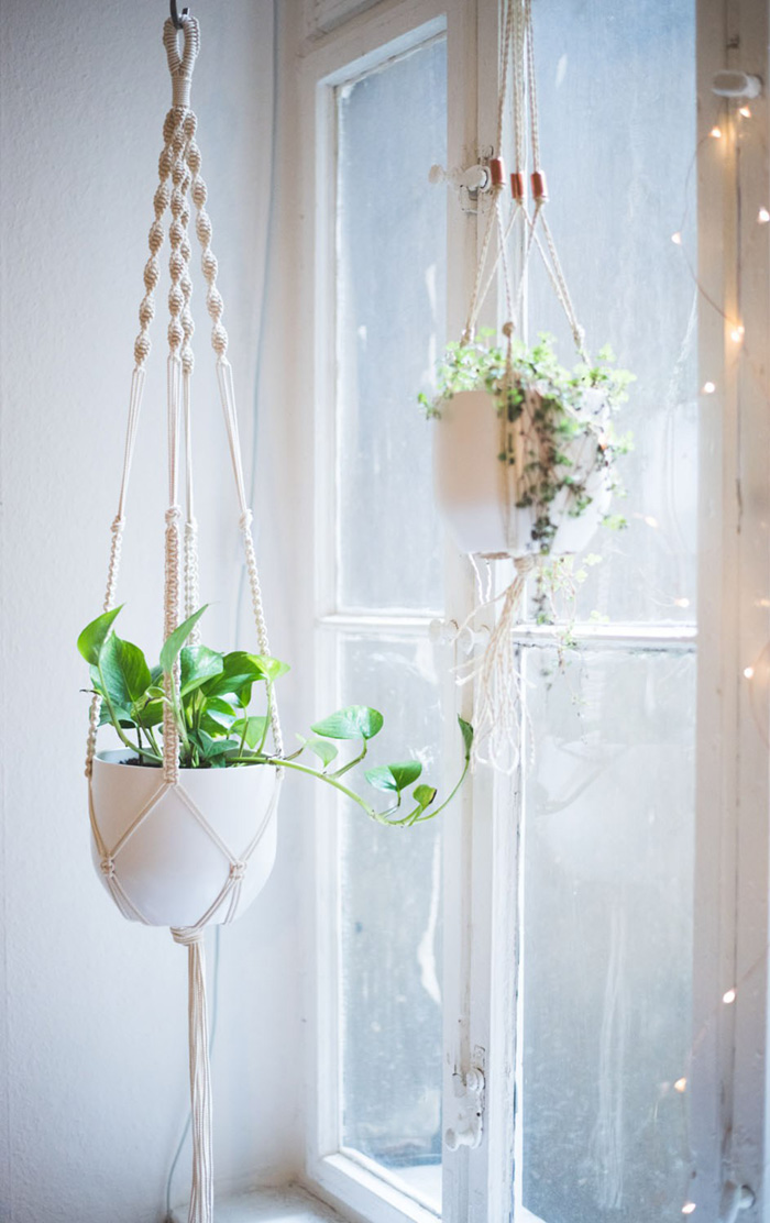 diy macrame hanging planter macrame wall hangings plant hangers buy or diy 325
