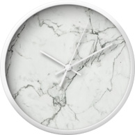 White Marble Texture clock