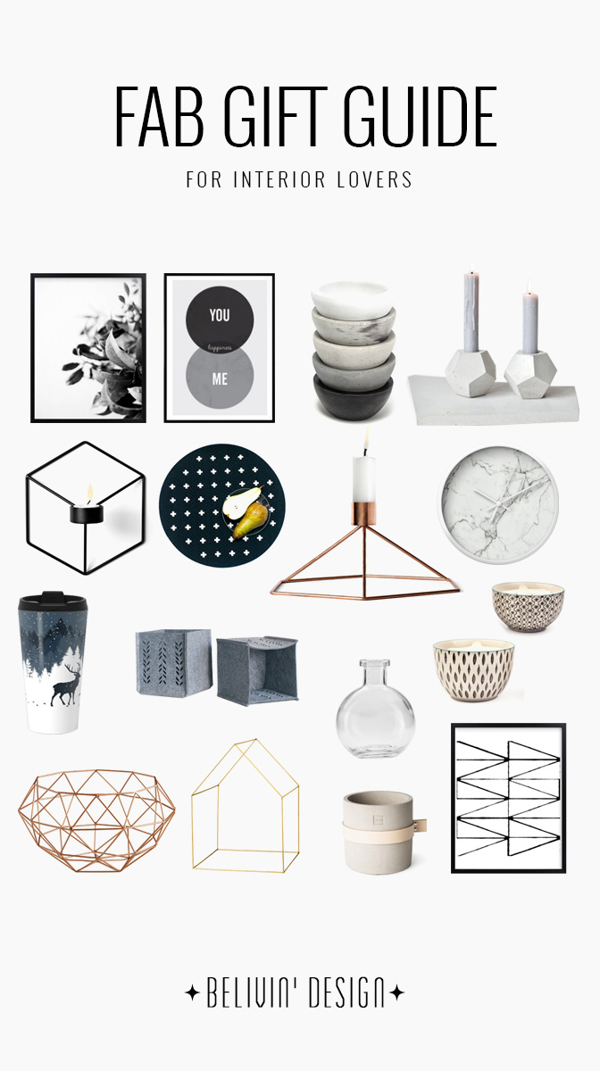 FAB GIFT GUIDE FOR INTERIOR LOVERS