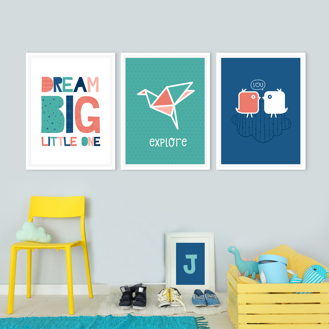 colorful kids room printables