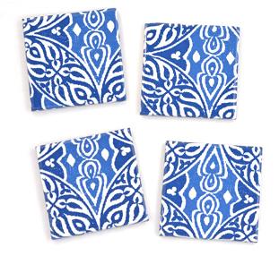 Blue Boho Coasters