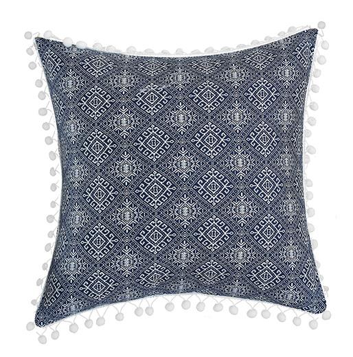 Blue decorative pillow