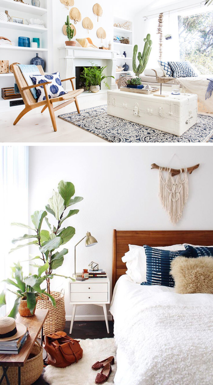 Get the boho chic look - 32 bohemian interior design ideas ... on Modern Boho Decor  id=69977